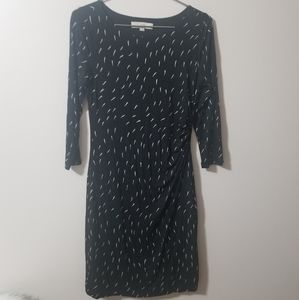 LOFT - black stretch dress